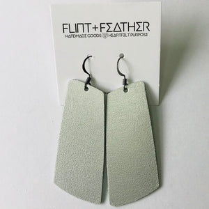 Metallic Silver Leather Spar Earrings