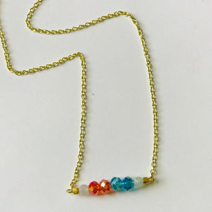 Every Day I'm Thunderin' - OKC Thunder Inspired Bead Bar Necklace (Nickel Free)