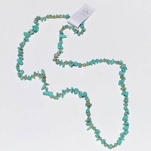 Hathor Collection - Wadjet Turquoise Pebble Necklace