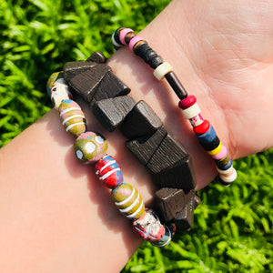 Graffiti Stretch Bracelet Stack
