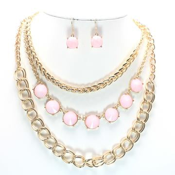 Multi row necklace