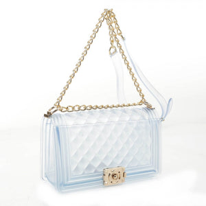 Zelly chain crossbody bag - see through