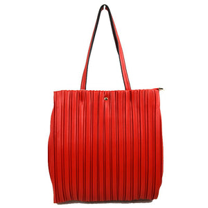Vertical line tote - red