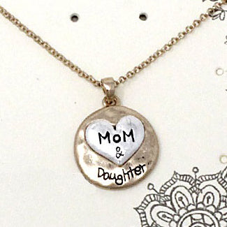 Mother & Daughter necklace set - gold