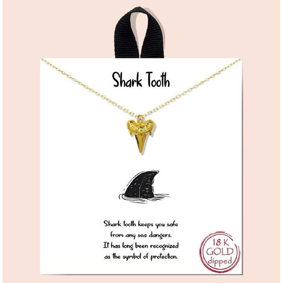Shark Tooth - gold