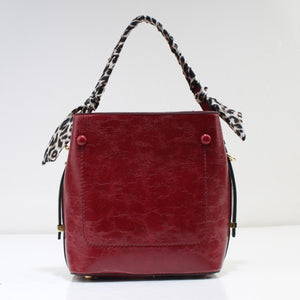 Single handle shoulder bag - Dark red
