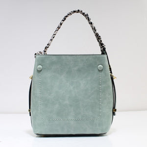 Single handle shoulder bag - light green