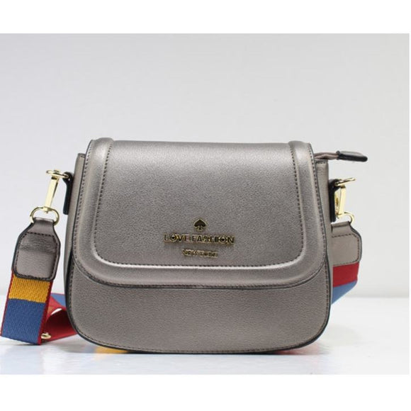 Love Fashion crossbody bag - dark silver