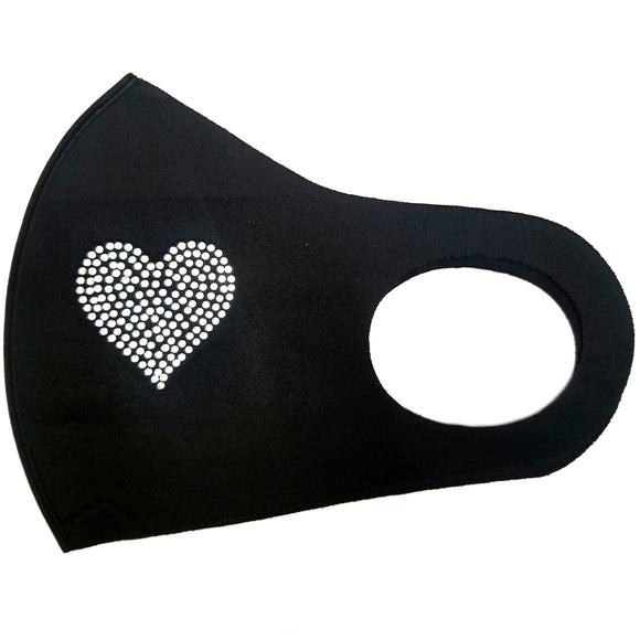 Heart stud poly mask