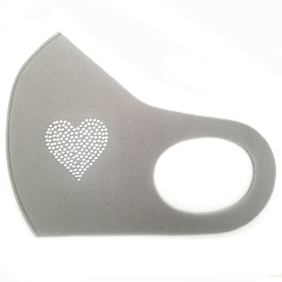 Poly Mask design stud - Heart gray