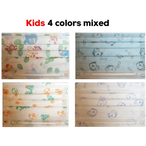 [50pcs pack] Kids disposable 3PLY Mask