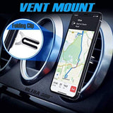 Mobile phone holder & car mount - red