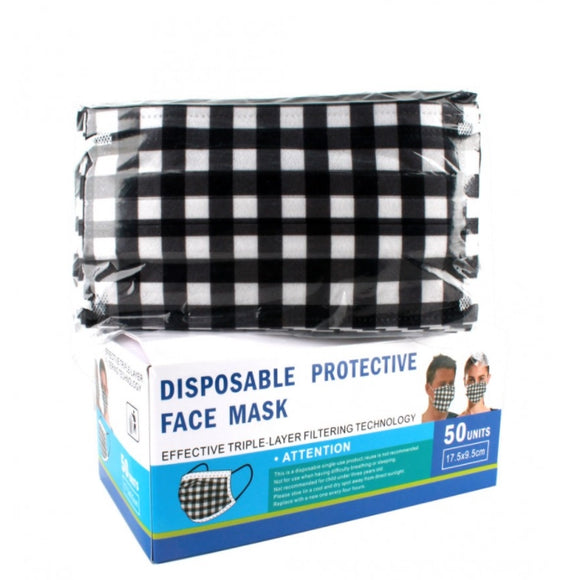 [50 PC] Disposable 3PLY Mask - check