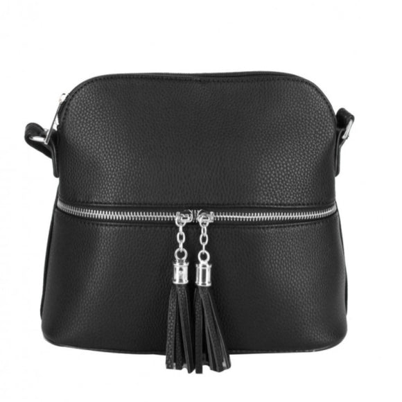 Tassel crossbody bag - black