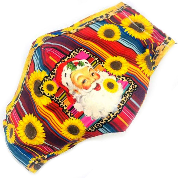 Santa Claus cotton mask - sunflower