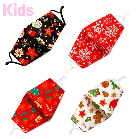 Kids Christmas cotton mask