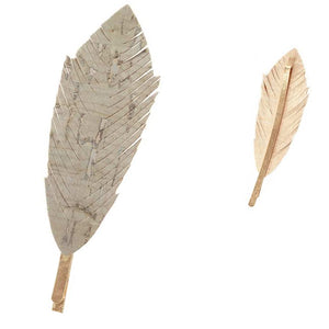 [12pcs set] Leaf hair pin - grey