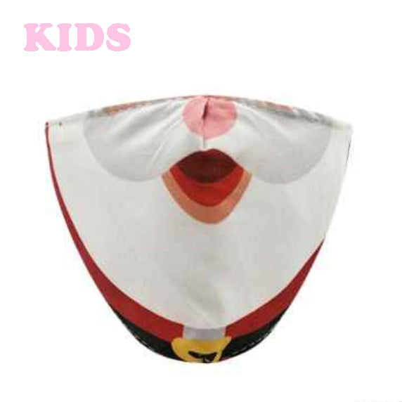 [12pcs set] Kids Christmas cotton mask - red