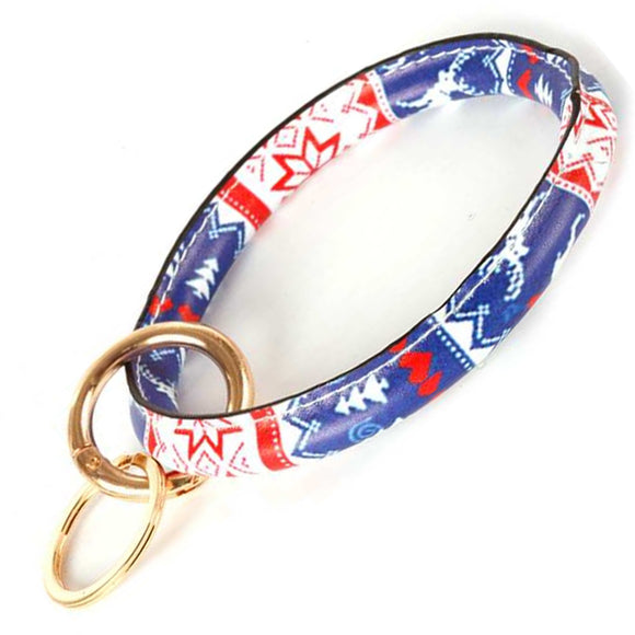 [12pcs set] Christmas bangle keyring - blue