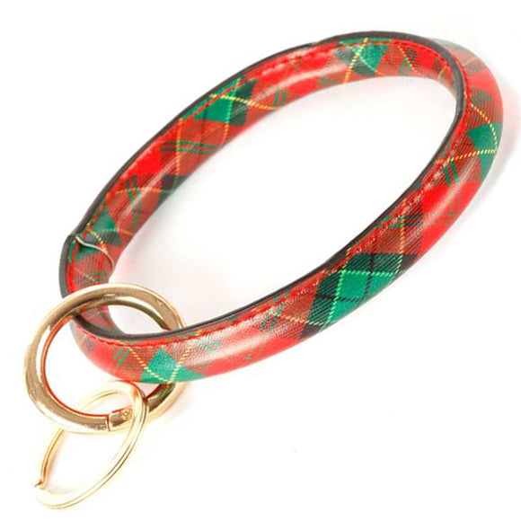 [12pcs set] Christmas bangle keyring - red multi