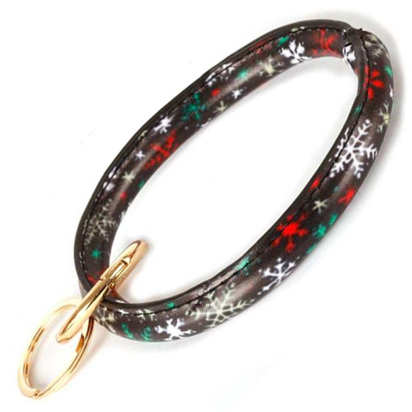 [12pcs set] Christmas bangle keyring - multi
