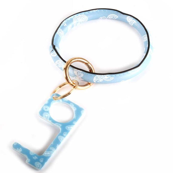 [12pcs set] Sanitary bangle key ring - blue