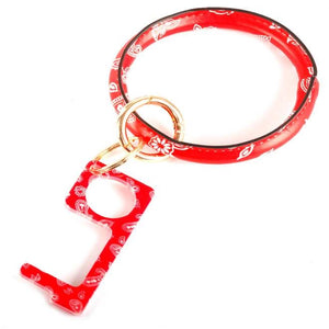 [12pcs set] Sanitary bangle key ring - paisley red