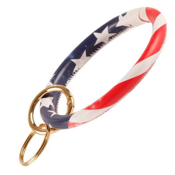 [12pcs set] American flag with key ring