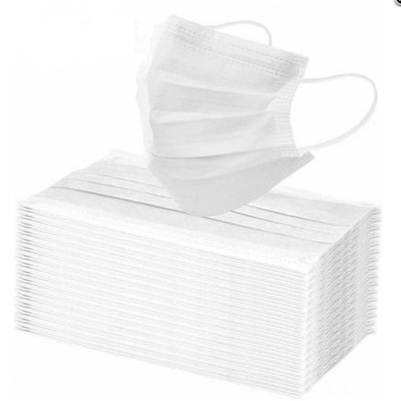 [50pcs set] Disposable 3PLY Face Mask - white