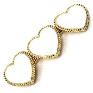 [12pcs set] Heart hair pin - white