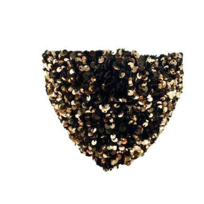 Sparkly sequin mask - antique gold