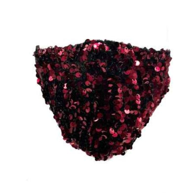 Sparkly sequin mask - burgundy