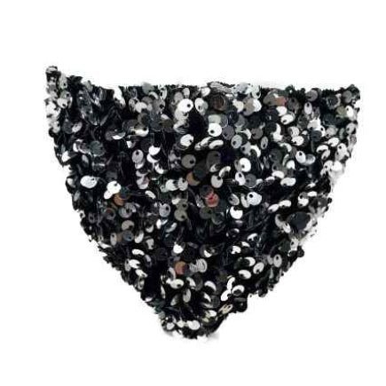 Sparkly sequin mask - grey