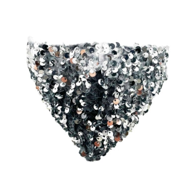 Sparkly sequin mask - silver