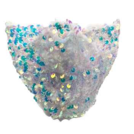 Sparkly sequin mask - white aurora