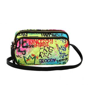 Graffiti crossbody bag - multi 1