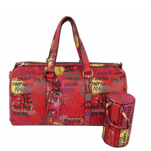 2 IN 1 graffiti weekender bag - multi 4