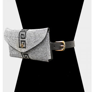 Pave clutch & belt bag - black clear