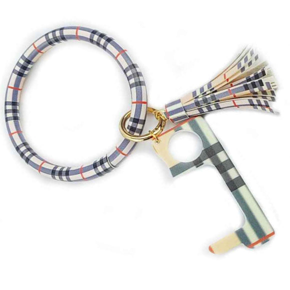 Bangle key chain with germ key - stripe