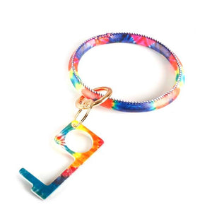 [12pcs set] Sanitary bangle key chain - gold multi