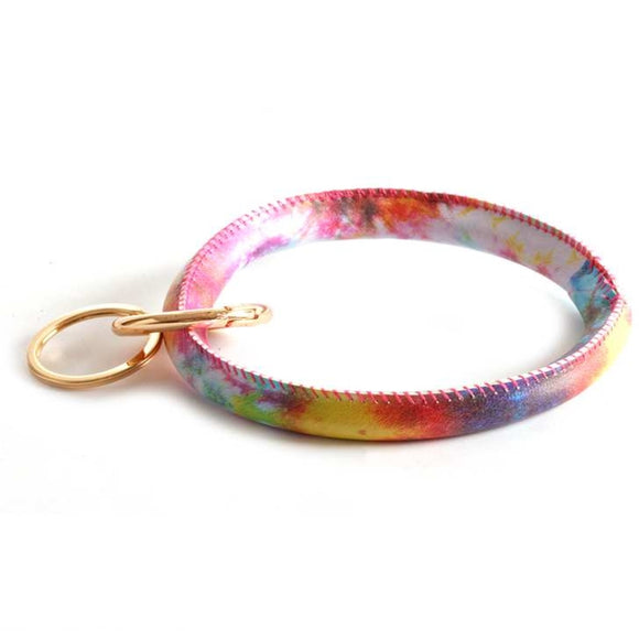 [12pcs set] Bangle keyring - gold multi