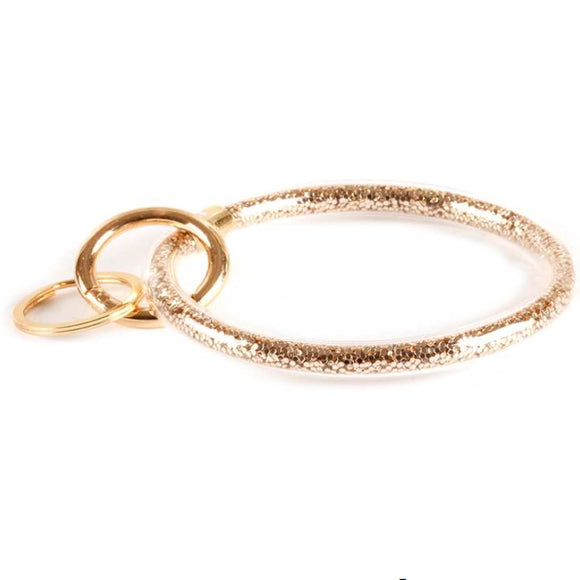 [12pcs set]  Twinkle bangle keyring - gold