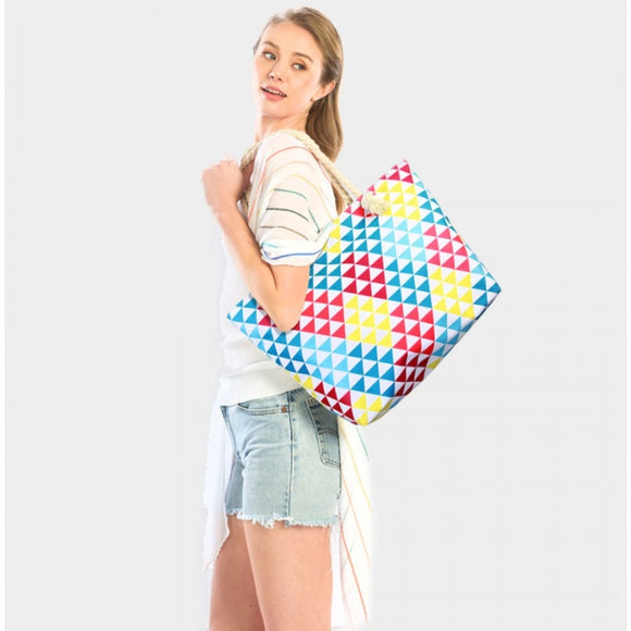 Beach tote bag - geometric