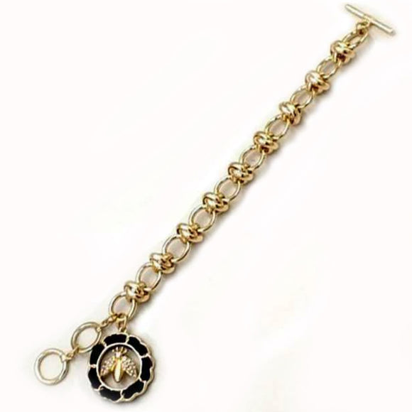 [2pcs] Queen Bee Chain Bracelet - gold