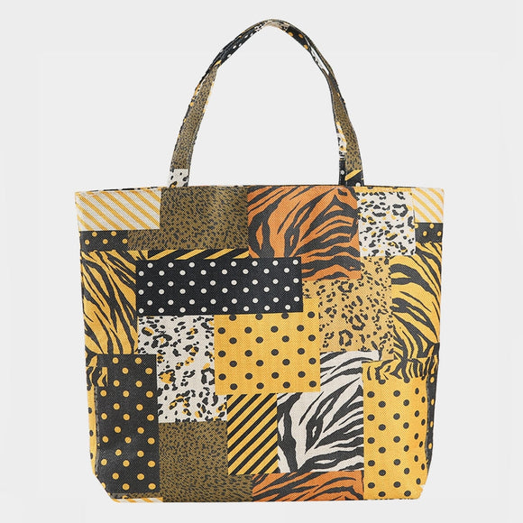 Animal pattern beach tote  - multi