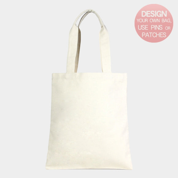 Plain cotton canvas eco tote - ivory