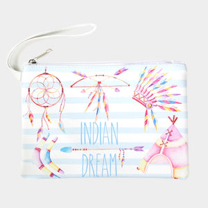 'INDIAN DREAM' pouch - light blue