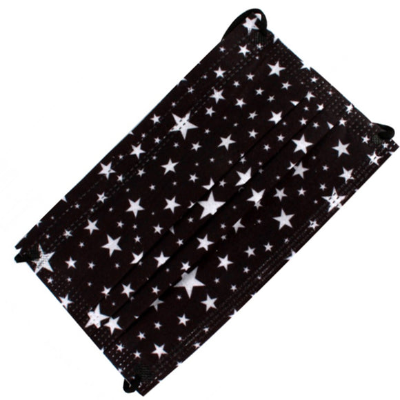 [50 PC] Star 3ply mask - black