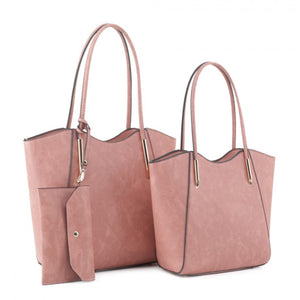 Double shopper tote - blush
