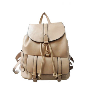 Linked buckle backpack - apricot